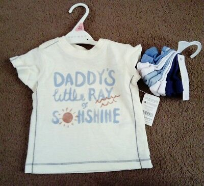 baby boy T-shirt 6-9 months & 5 pack of newborn socks new with tags