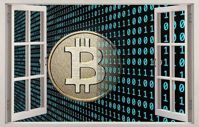 Bitcoin Cryptocurrency 3D Window Decal Wall Sticker Home Decor Art Mural J1021