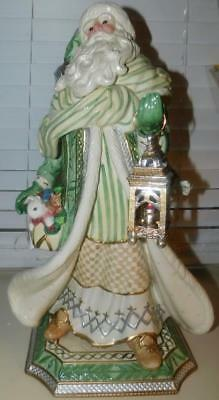 "Fitz & Floyd Christmas Gregorian Collection Santa Figurine 21""circa 2000"