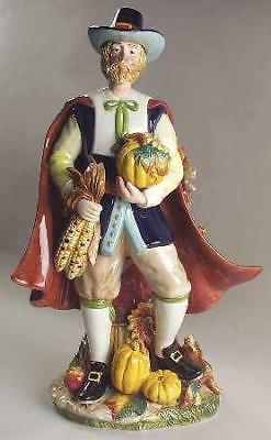 "Fitz and Floyd Harvest Heritage 18"" TALL MALE PILGRIM IN BOX THANKSGIVING NIB"
