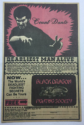 1975 ad page ~ COUNT DANTE, DEADLIEST MAN ALIVE ~ Black Dragon Fighting Society