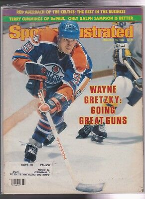 Vintage Magazine With Wayne Gretzky Cover SPORTS ILLUSTRATED February 1982