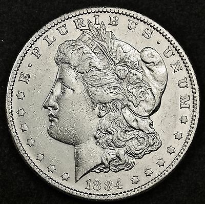 1884-s Morgan Silver Dollar.  A.U.  112016