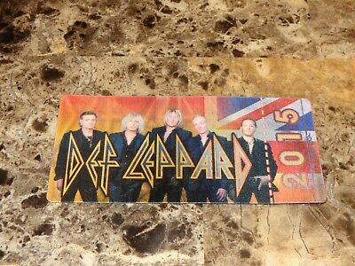 Def Leppard 2015 3D VIP Concert Ticket Joe Elliott Rick Savage Allen Phil Collen