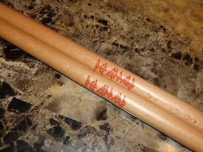 Def Leppard 2015 VIP Drum Stick Set Joe Elliott Rick Savage Allen Phil Collen