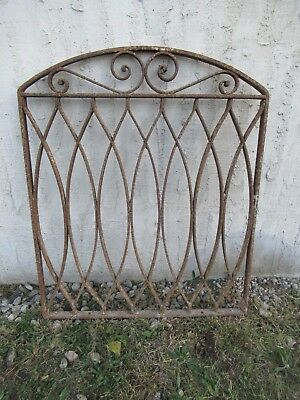 Antique Victorian Iron Gate Window Garden Fence Architectural Salvage Door #047
