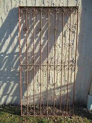 Antique Victorian Iron Gate Window Garden Fence Architectural Salvage Door #039