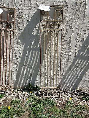 Antique Victorian Iron Gate Window Panel Fence Architectural Salvage Door #402
