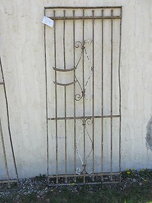 Antique Victorian Iron Gate Window Garden Fence Architectural Salvage Door #374