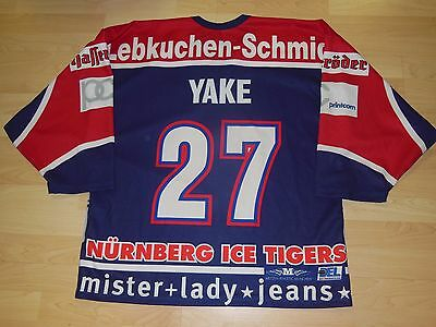 GERMANY 1.DEL Nurnberg Ice Tigers used HOCKEY JERSEY #27 YAKE NHL St.LOUIS BLUES