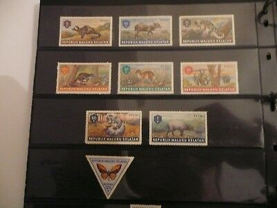 Maluku Selatan stamp collection mint / fine used QE - good lot better noted