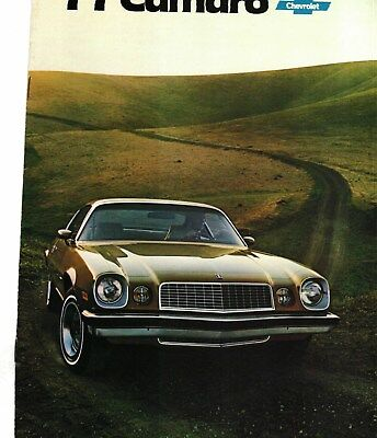 1977 Chevrolet Camaro Sport Coupe, Rally Sport, Lt Color Sales Catalog