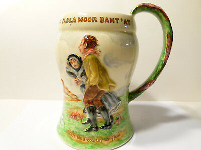 Fieldings Crown Devon Music Box Large Mug/ Tankard (On Ilkley Moor) Hand Painted