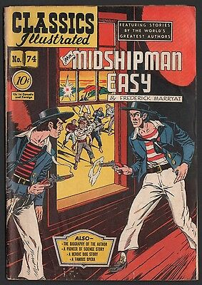Classics Illustrated #74 HRN 75 VG 4.0 OW Mr. Midshipman Easy ORIGINAL EDITION