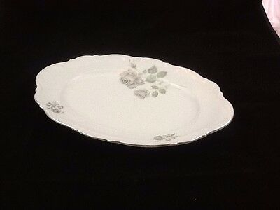 "Mitterteich Mystic Rose Pattern 14.75"" Oval Serving Platter"