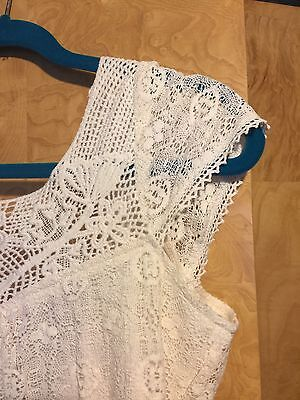 Tulle4us Vintage Inspired Off White Lace Wedding Summer Boho Chic NWT $125 S