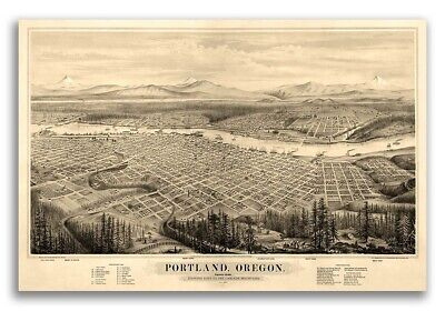16x24 1879 Leadville Colorado Vintage Old Panoramic City Map