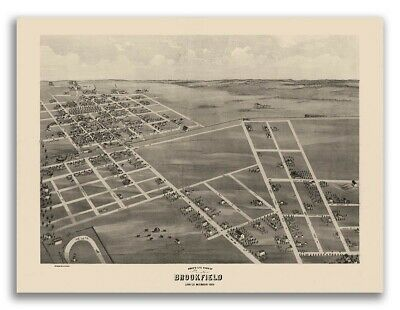 St 24x36 Louis Missouri 1873 Historic Panoramic Town Map