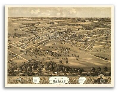 20x28 1868 Saint Joseph Missouri Vintage Old Panoramic City Map