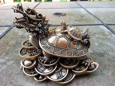 """Chinese Feng Shui statue Dragon turtle 5""""L x 4""""H"""