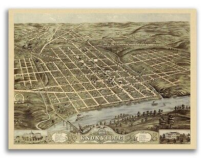 Knoxville Tennessee 1871 Historic Panoramic Town Map - 24x32
