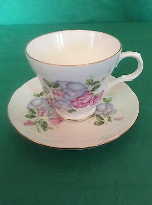 Crown Trent Fine Bone China Staffordshire England Cup & Saucer