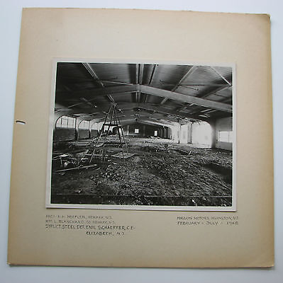 IRVINGTON NJ Mallon Motors 1948 Architectural Photo Vintage NEW JERSEY Old