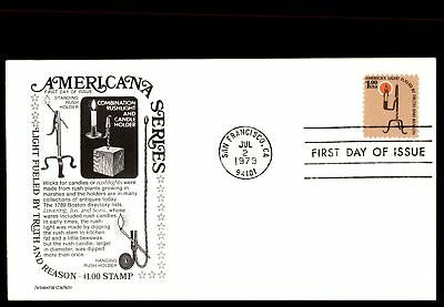 San Fran Ca Jul 2 1979 Americana Series Rushlight & Candle Holder Cachet On FDC
