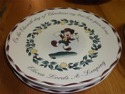Disney Store 12 days of Christmas REPLACEMENT plate  ELEVEN LORDS A LEAPING  & Dinnerware Housewares Contemporary (1968-Now) Disneyana ...