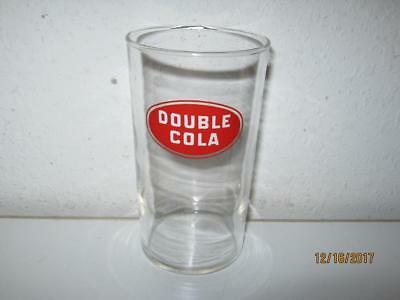"""Vintage Double Cola 4 1/4"""" Glass 8 Ounce Tumbler {Hard-To-Find}"""