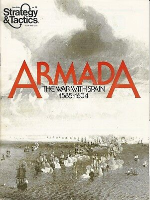 Strategy & Tactics S&T #72 Armada The War with Spain 1585-1604 SPI Unpunched FS