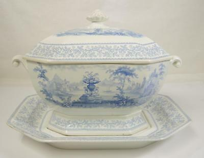 1830s William Ridgway Son & Co Soup Tureen & Fitted Underplate * Union Pattern