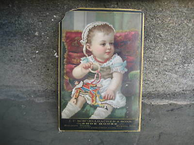 Victorian J.P Schnellbacher & Sons Shoe House Trade Card