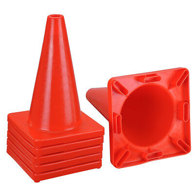 """6pcs 18"""" Traffic Cones Reflective Overlap Parking Construction Road Safety Cone"""