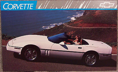 Post Card ~ 1989 Corvette ~ Original