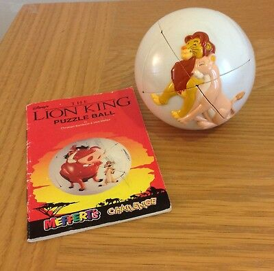 Lion King Puzzle Ball Mefferts Challenge Disney Collectable