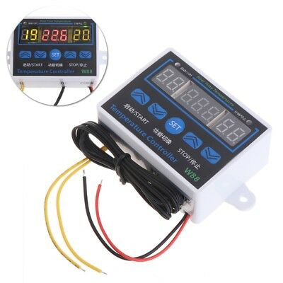 W88 12V/220V Digital LED Temperature Controller Thermostat Control Switch Sensor