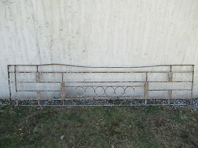 Antique Victorian Iron Gate Window Garden Fence Architectural Salvage Door #082