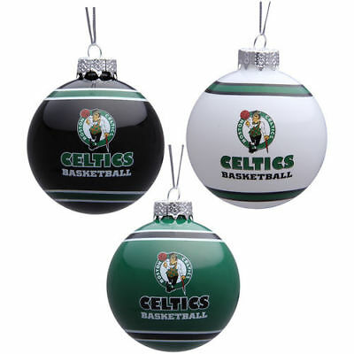 Boston Celtics Forever Collectibles 2012 Ball Ornament Set - 3 Pack Christmas