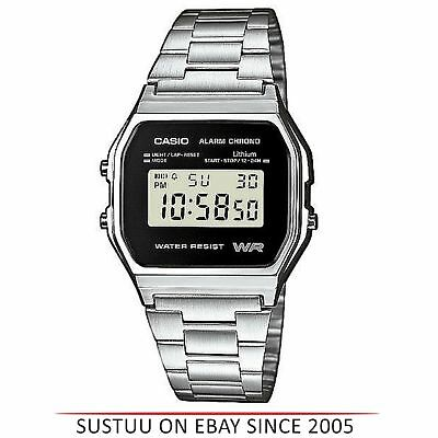 Casio A158WEA-1EF Men's Digital Watch│Unisex Resin Stainless Steel Band│Silver