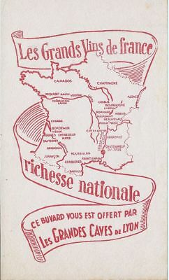 BUVARD 114896 GRANDS VINS DE France CARTE-JAN