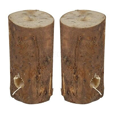 20 cm Wooden Fire Wood Burner Log Candle Garden Party Camping Campfire BBQ Torch