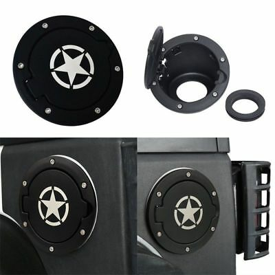 Star Style Gas Tank Cover Fuel Cap Fit For 07-17 Jeep Wrangler JK  2/4 Door