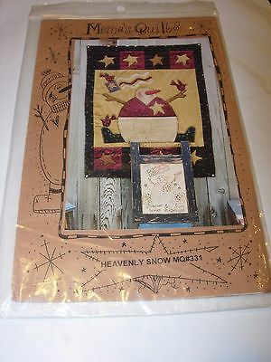 QUILT PATTERN SEWING QUILTING 25x35 snowman wall art christmas heavenly snow