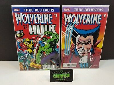 Wolverine #1 & Hulk #181 Reprint Set NM Marvel Comics True Believers X-23 Logan