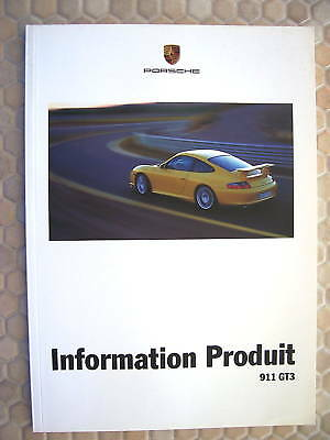 Porsche Official 911 996 Gt3 Product Information Manual Brochure 2003 French
