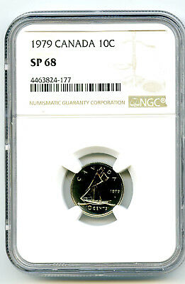 1979 Canada Specimen 10 Cent Ngc Sp68 Dime...registry Quality..rare Only 5 Known