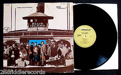 THE PAUPERS-ELLIS ISLAND-Rare Psych Rock Album with Paper Insert-VERVE #FTS 3051