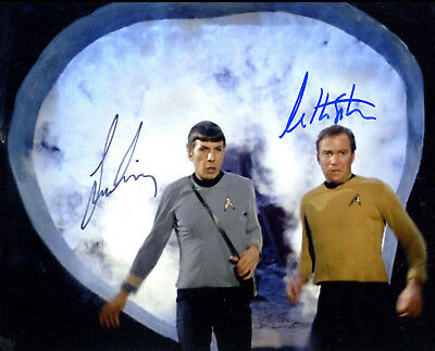 The Portal From Star Trek  Signed Photo Color In Person By  Shatner & Nimoy