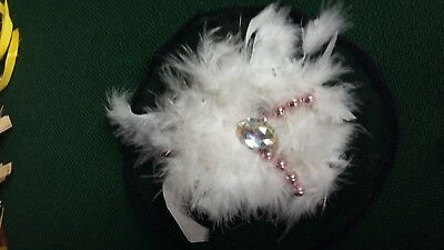Large Feather Beaded Hair Clip Fascinator Bnwt